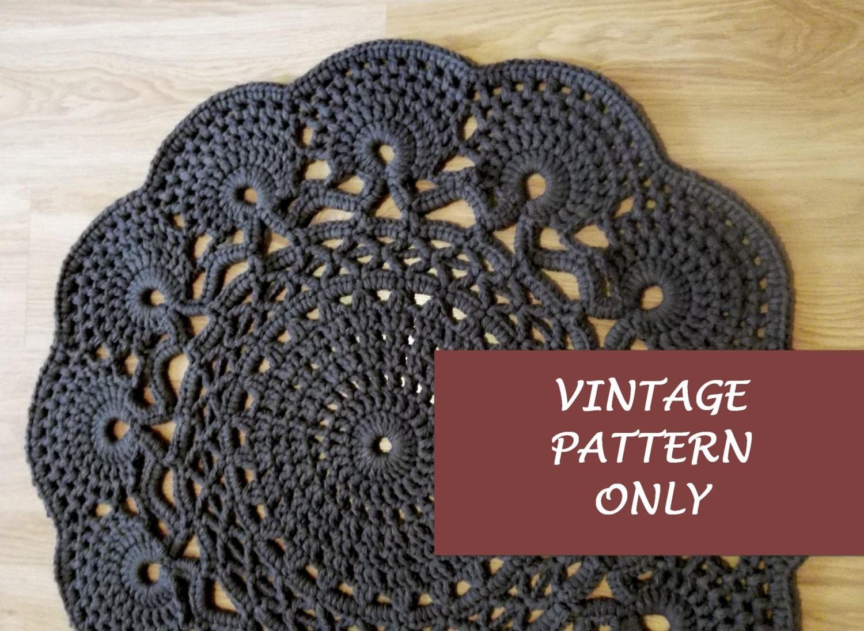 Vintage Pattern Only Crochet Rug Chart Crochet Rug Rug