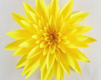 Paper Dahlia - Realistic Paper Flower - Table Decorations, Wedding Flowers. Gifts, Bouquets