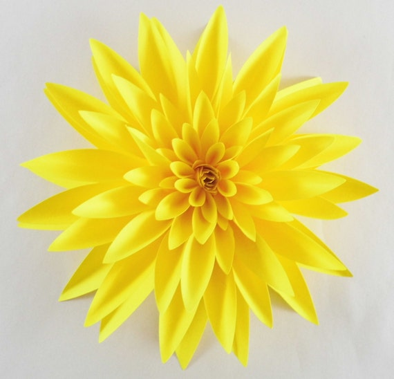 Items Similar To Paper Dahlia Realistic Paper Flower