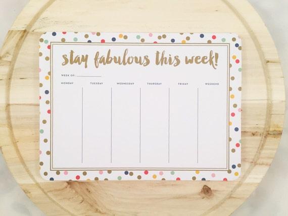 Stay Fabulous Weekly Organizer