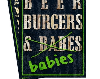 beer burgers and babies Baby Shower Invitation, Diaper Shower Invitation, Baby Shower Invites, Dad Diaper Shower, Diaper Shower