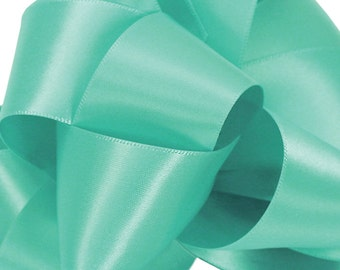 """NEW Offray 1-1/2"""" double faced Pool satin ribbon, Satin Pool Ribbon, 1 yard Pool Ribbon"""