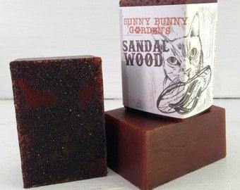 Organic Sandalwood Soap, Manly Soap, Soap Men Love, Handmade Sandalwood Soap, Gifts For Dad, Gifts For Husband, Sunny Bunny Gardens