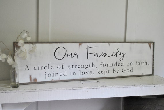 OUR FAMILY 1'X4' sign