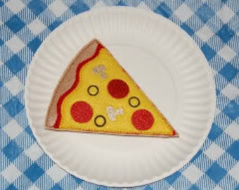 Pizza Felt Play Food Embroidery Machine Design for the 5x7 hoop