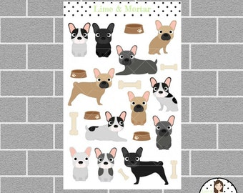 French Bulldog Planner Stickers