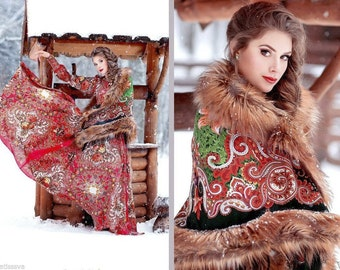 Pavlovo Posad shawl Russian dress
