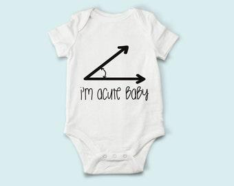 Acute Nerd Baby, Math Geek Shirt, Baby Romper, Funny Baby Bodysuit, Baby Boy Baby Girl, Baby Shower Gift, Baby Romper, Acute Baby, Math Baby