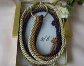 "Cord of Three Strands, Wedding Unity Cords, Unity knot wedding, Braid cord ceremony, Unity knot, Gods unity cords, Wedding 3/8"" cords"