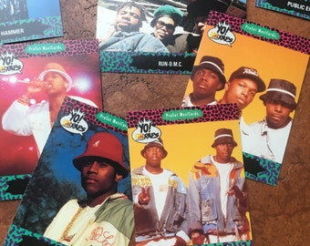 Yo! MTV Raps trading cards lot of 125 cards featuring; LL Cool J, De La Soul, Boogie Down Productions, Digital Underground and more
