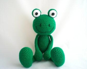 Crochet Frog / Amigurumi Frog / Crochet Amigurumi Soft Toy / Crochet Frog Plushy Soft Toy.
