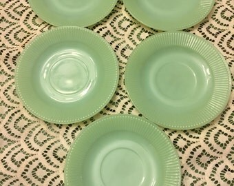 JADITE saucers set of 5