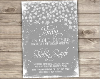 Baby its Cold Outside Baby Shower Invitation NV790