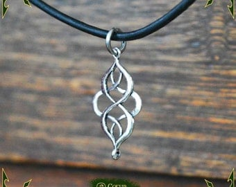 Necklace elven knot pendant