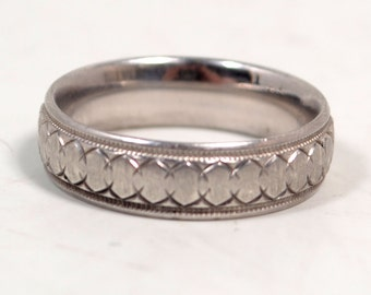 Sterling Silver 925 Etched Size 10 Band