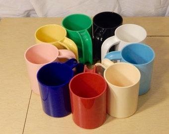 Heller Vignelli Mugs - mix and match - rainbow heller - Massimo Vignelli