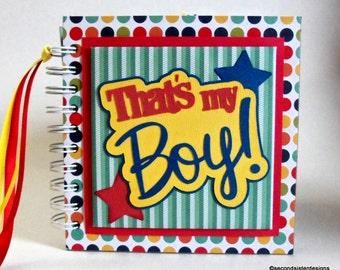THAT'S My BOY! GRANDMA'S Brag Book photo album scrapbook Baby Boy keepsake new baby boy book New Mom Christmas gift