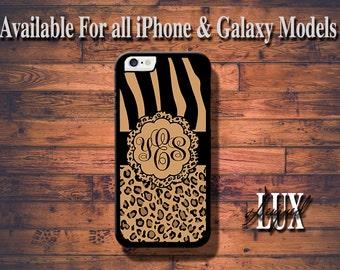 iPhone 6 Case/ Leopard Monogram iPhone 6 Plus Case/ Cheetah iPhone 5/5S Case/ Name iPhone 4/4s Case