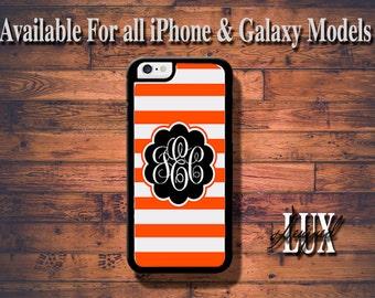 Orange iPhone 6 Case/ Monogram iPhone 6 Plus Case/ Custom iPhone 5/5S Case/ Personalized iPhone 4/4s Case