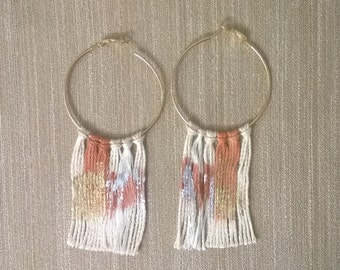 Natural dye and gold leaf fiber Jewelry