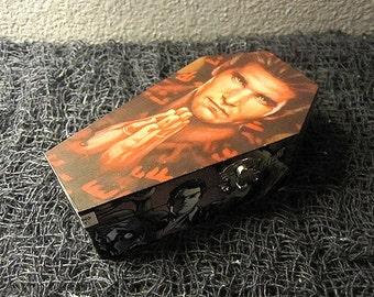 Angel Comic Coffin - Gothic Horror Nerd Geek Trinket Keepsake Box Buffy the Vampire Slayer