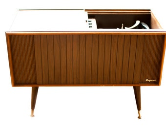 Midcentury Mod Vintage Stereo Consoles w/New by RetroModRadio