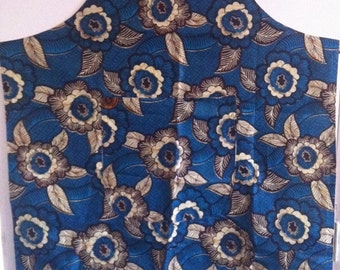 African print apron handmade in Malawi