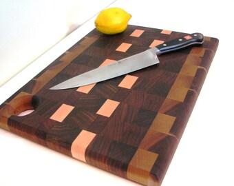 Walnut Wood EndGrain Cutting Board  - Walnut Cutting Board End Grain Construction
