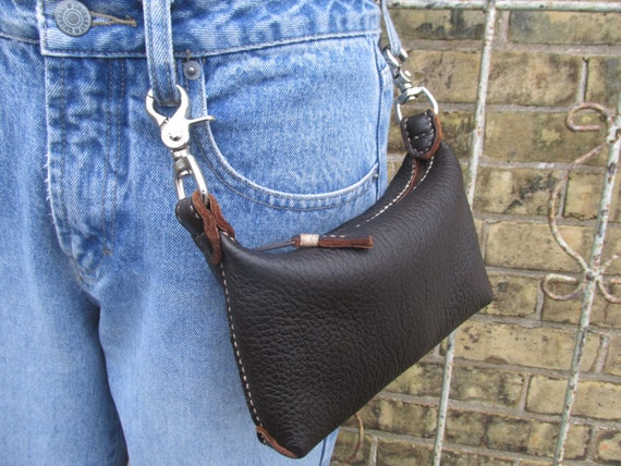 Model Leather Motorcycle Womens Hip Bag