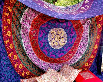 AMT 024 Hippie Tapestry Mandala Twin bed sheet