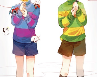 "Frisk and Chara 11""x17"" Poster Print"