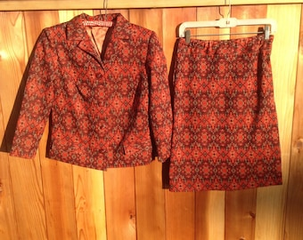 Vintage 70's Two Piece Skirt Suit