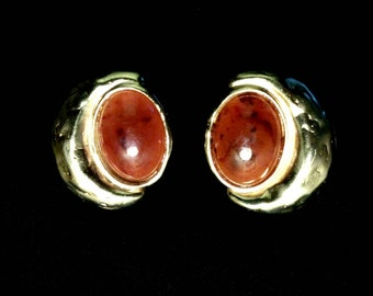 Jacqueline Ferrar Clip On Amber Earrings FREE SHIPPING