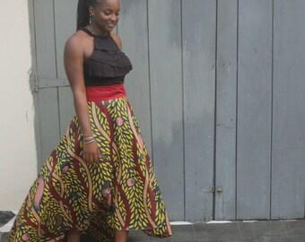 High Low Skirt/ AFrican dress/ african Skirt/ Ankara skirt/ Ankara fashion/ maxi skirt