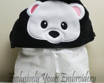 Polar Bear Children's Hooded Towel - Baby Towel - Childrens Hood Towel - Bath Towel - Beach Towel - Personalized Towel - Character Towel