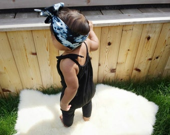 Organic Cotton T-shirt Romper / Harem / Jumpsuit / Black One Piece / Baby Romper / Baby Girl Outfit / MiBaby Boutique