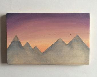 Mountain series, reversible landscape. Wooden sign, mountain art, ski sign, home decor, nursery art, ski art, wood sign, mountains