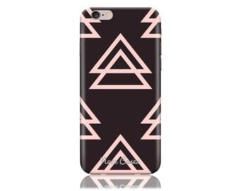 LG V10 Case #Pink On Black Triangle Cool Design Hard Phone Case