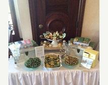 ON SALE Ruffle Tablecloth, Table skirt , Wedding table decoration,  home decor, Custom made tablecloth, Frill table skirt
