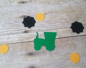Tractor Confetti - Die Cuts - Party Supplies - Table Decorations