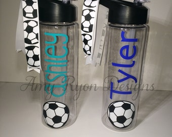 Soccer Tritan Water Bottle, Soccer Team Gift, Soccer Coach Gift, Soccer Player Water Bottle, Soccer Camp, Soccer Team Gift, Soccer Birthday