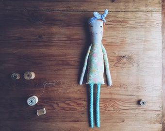 Retro Cloth Doll, Made to Order Cloth Doll