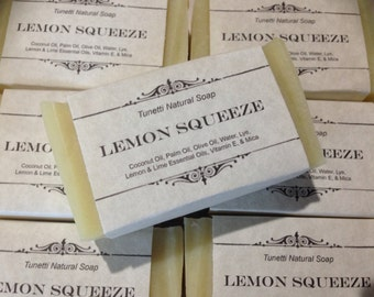 Lemon Squeeze Natural Homemade Soap, Handmade soap, Natural Soap, Cold Process Lye Soap