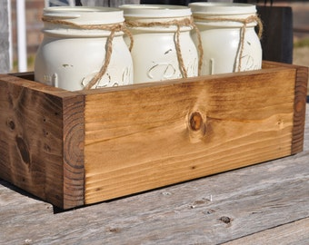 Rustic Centerpiece, rustic wedding centerpeice, rustic planter, rustic home decor, mason jar decor, planter, rustic wedding decor