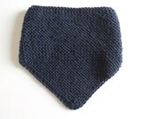 Handknitted bandana, snood for your little cow-boy or cow-girl 100% wool, child - navy blue