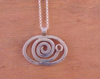Silver Snail Pendant