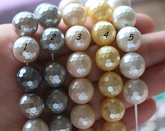 10 mm South Sea Shell Pearls round beads, Mixed color