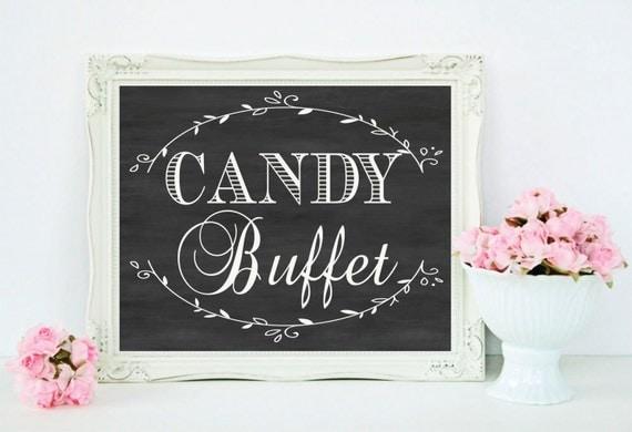 Chalkboard Wedding Candy Buffet Sign Dessert Table Decor
