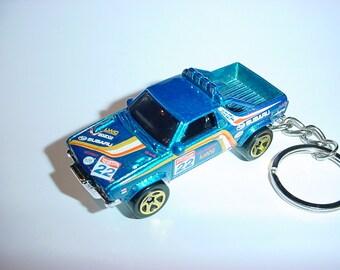 3D Subaru Brat custom keychain by Brian Thornton keyring key chain finished in blue offroad 4x4 racing trim