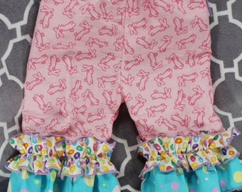 Easter Peek-A-Boo Ruffle Pants or Capris - Newborn to Children size 8